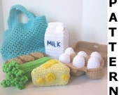 Grocery Shopping Play Food Crochet Pattern