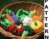 Crochet Food Pattern - Vegetables