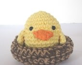 Yellow Baby Bird with Nest SAMPLE SALE