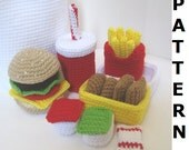 Crochet Food Pattern for Happy Meal