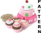Play Food Crochet Pattern - Cakes, Cupcakes and Pies