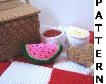 Picnic Basket Play Food Crochet Pattern