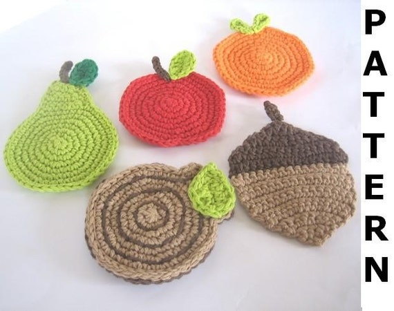Cotton Coasters Crochet Pattern - finished items made from pattern may be sold