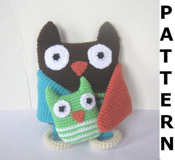 Mama and Baby Owl Crochet Pattern - finished items made from pattern may be sold