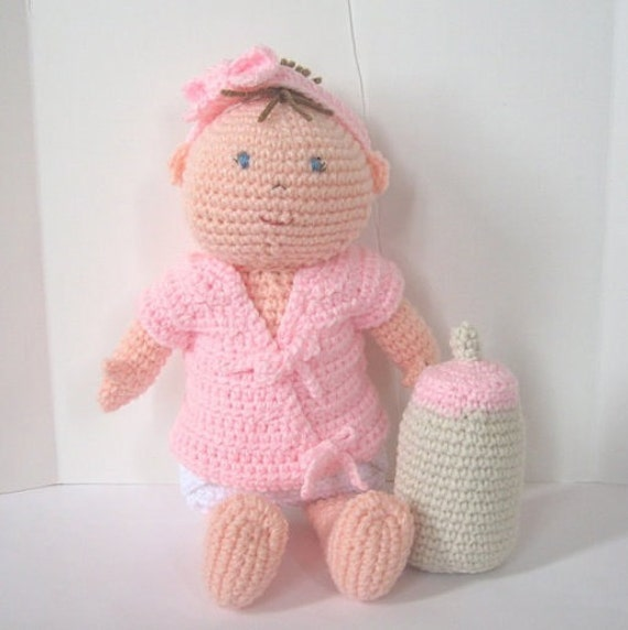 Baby Doll with Diaper Bag Crochet Pattern from ...