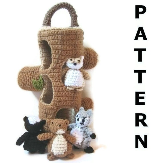 Woodland Creatures Crochet Pattern - finished items made from pattern may be sold