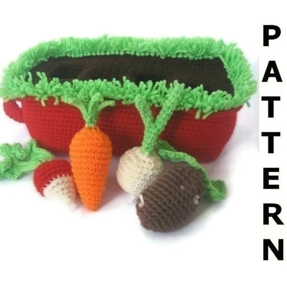 Play Food Crochet Pattern - Vegetable Garden