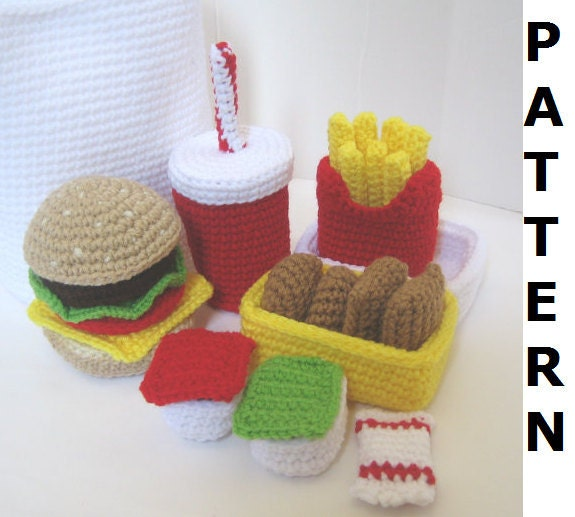 Crochet Patterns Free Food : Crochet Food Pattern for Happy Meal