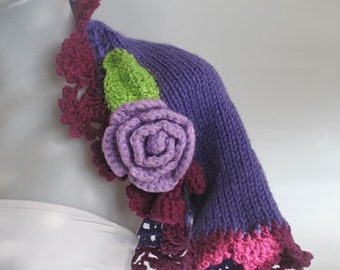 Knitted -crocheted Wear Purple shrug,be happy during the life.