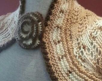Shrug..2 sided..Baby wool so soft