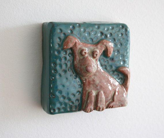 Labrador Puppy Glazed Tile