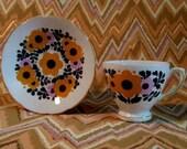Royal Sutherland MOD China Tea Cup and Saucer