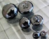 11mm black German glass eyes for artist bear making