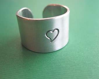 Custom Ring - Personalized Ring - Wide band