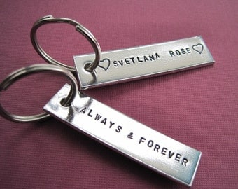 Personalized Keychains - Custom Accessory - Set of 2, Customized your own
