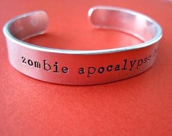 Zombie Apocalypse Buddy Bracelet - Personalized Bracelet - 3/8 cuff