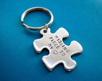 Puzzle Piece Keychain - Missing Piece to My Heart