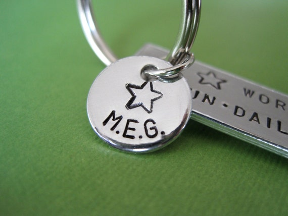 Custom Keychain - Add a Tag Personalized Keychain - Initials - Monogram