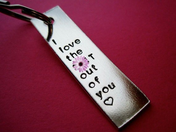 I love the s--t out of you Keychain - Custom Keychain - Mature