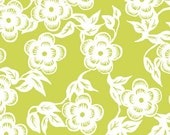 LAST ONE SALE Ty Pennington Impressions Chartreuse Fabric by Free Spirit, Asian Blossom in Chartreuse- 1 Yard or by the yard