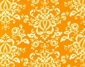 New Traditions Damask Fabric by Robert Kaufman, Damask in Marigold-Fat Quarter