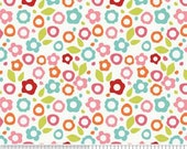 Alphabet Soup Fabric by Zoe Pearn for Riley Blake, Floral in White-Fat Quarter