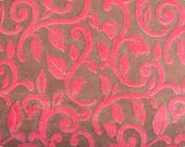 SALE Mar Bella Cuddle Minky Fabric by Shannon Fabrics, Granada in Fresa Watermelon - 1/2 Yard
