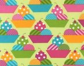 SALE Dessert Party fabric by Ann Kelle for Robert Kaufman,  Parfaits in Green Sorbet- 1 Yard