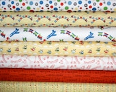 Scoot Fabric by Deena Design for Riley Blake- Yellow Yard Bundle, 7 total