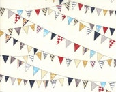 LAST ONE Reunion fabric by Sweetwater for Moda, Baby's Bunting in Vanilla-Fat Quarter