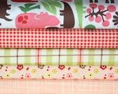2D Zoo by Alexander Henry & Farm Fresh for Riley Blake fabric Girl Bundle. Fat Quarter bundle-5 Total