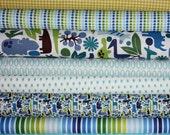 Boy 2D Zoo fabric bundle by Alexander Henry,  Fat Quarter Bundle- 8 total
