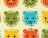 Roar fabric by Print and Pattern for Robert Kaufman, Roar Mane Lion in Bermuda-1 Yard