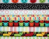 Roar fabric bundle by Print and Pattern for Robert Kaufman -Fat Quarter Bundle- 8 total