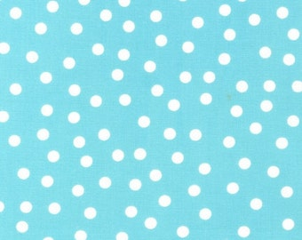 Remix Basic Dots fabric by Ann Kelle for Robert Kaufman, Remix Basic Dots in Aqua- Fat Quarter, Half Yards, or Yardage,