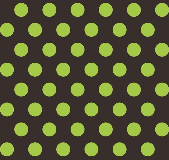 LAST ONE SALE Boo To You Halloween Fabric by Mind's Eye for Riley Blake, Large Dot in Green-1 Yard