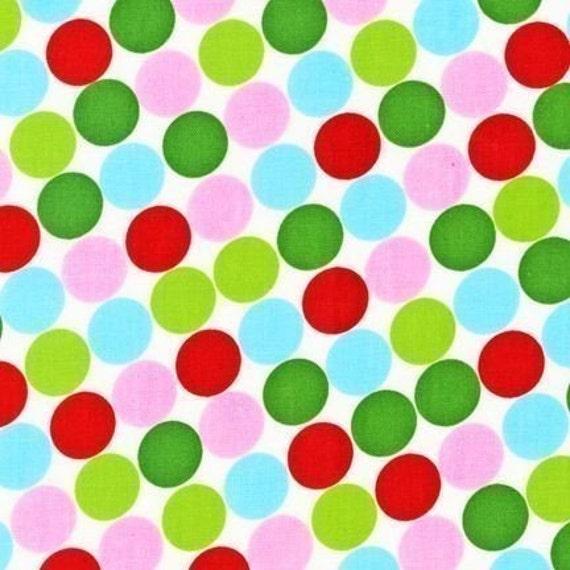 Christmas Groove Fabric by Caleb Gray for Robert Kaufman, Polka Dot in Holiday- 1 Yard