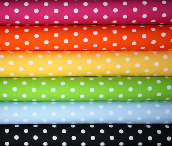 Robert Kaufman Pimatex Basics Polka Dot Fabric-Fat Quarter Bundle, 6 total