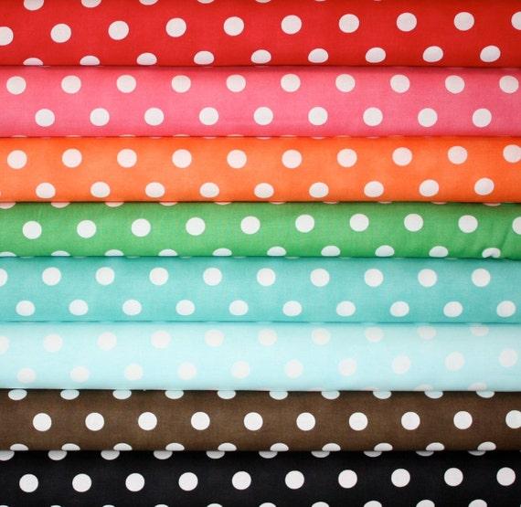 Dottie Dots Fabric by Moda Fabrics- Fat Quarter Bundle, 8 total