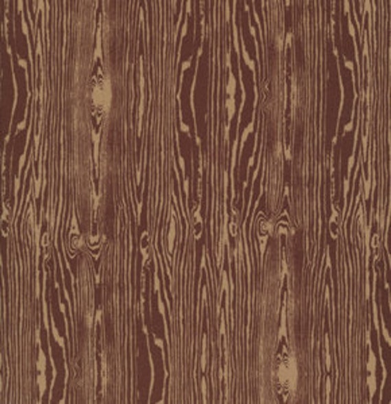 SALE Aviary 2 Fabric by Joel Dewberry for Free Spirit- Woodgrain in Bark-1 Yard