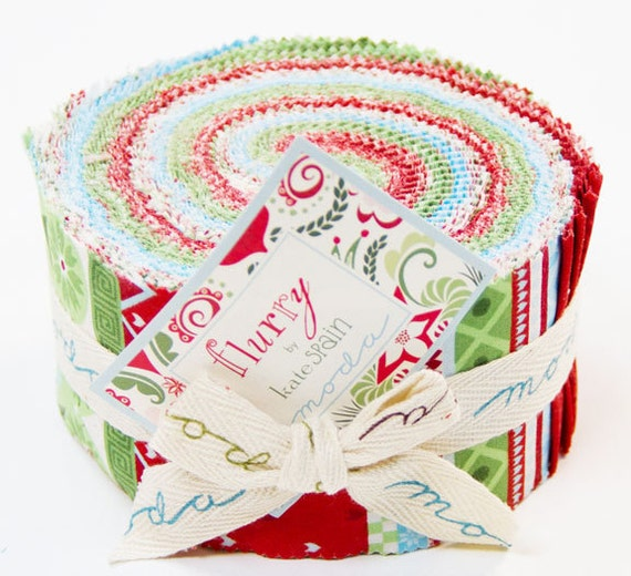 Flurry Precut Fabric by Kate Spain for Moda Fabrics- Jelly Roll, 40 strips