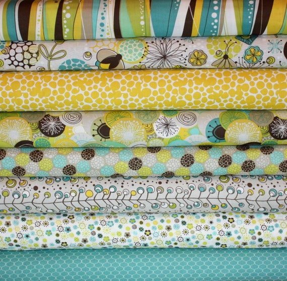Brook Fabric by Studio E- Fat Quarter Bundle,  8 total