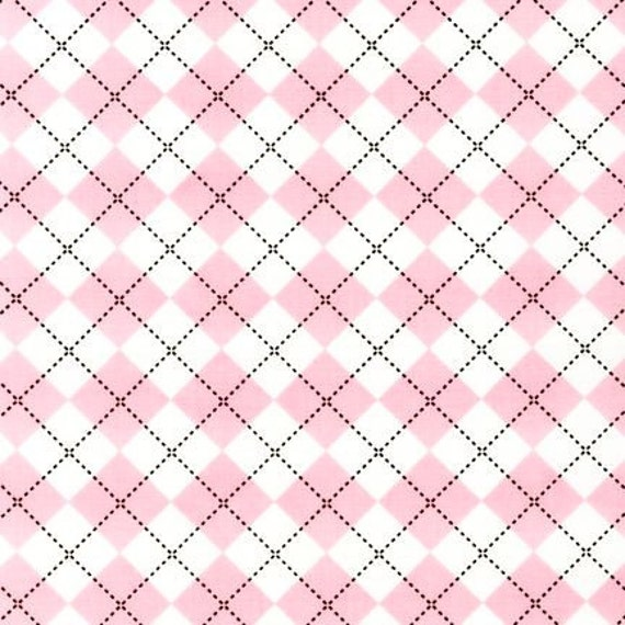 Remix Fabric by Ann Kelle for Robert Kaufman, Argyle in Peony-1 Yard