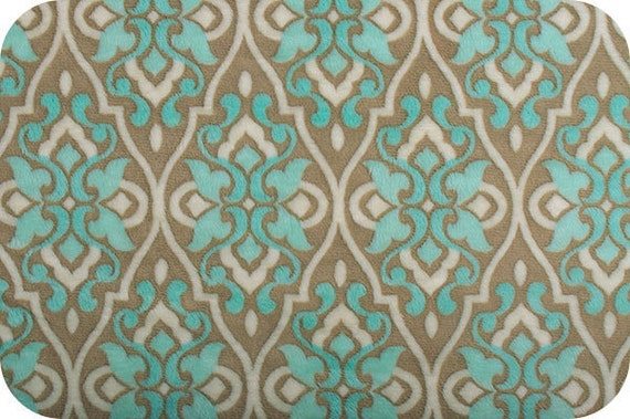 SALE Mar Bella Cuddle Minky Fabric by Shannon Fabrics, Valencia in Marina Aqua - 1/2 Yard