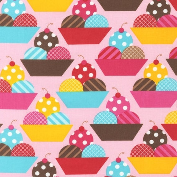 LAST ONE Dessert Party fabric by Ann Kelle for Robert Kaufman, Parfaits in Summer-1 Yard