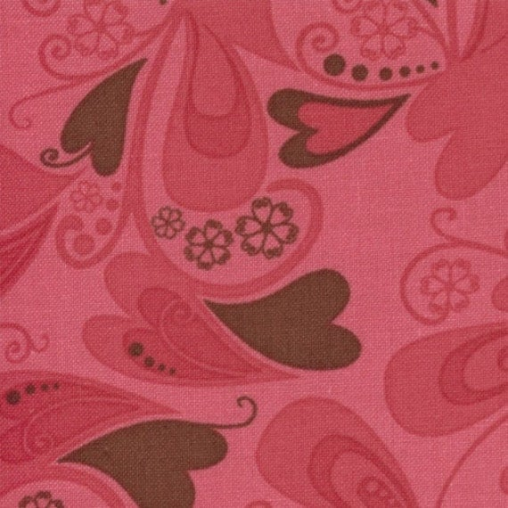 SALE Valentines Chemistry fabric bundle by Cosmo Cricket for Moda, Falling For You in Lipstick Red-Fat Quarter