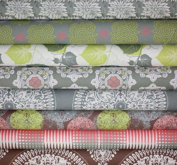 Ty Pennington Impressions 2011 Fabric by Free Spirit- Fat Quarter Bundle- 8 total