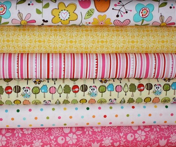 Sunny Happy Skies Fabric by Bella Blvd for Riley Blake-  Yard Bundle, 6 total