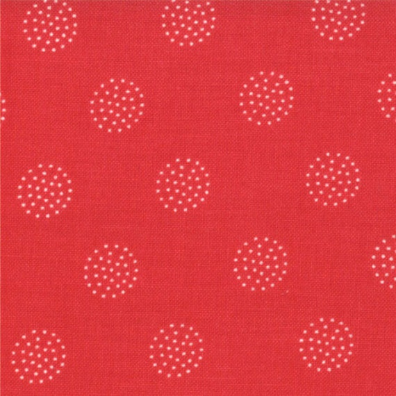 Reunion fabric by Sweetwater for Moda, Reunion Dots in Red-Fat Quarter