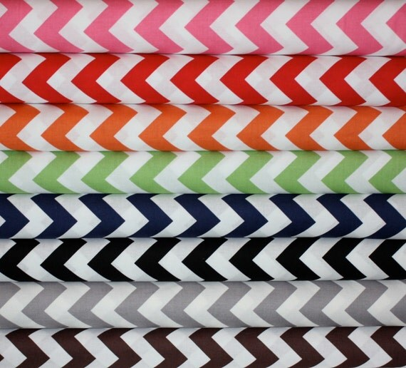 Chevron fabric bundle by Riley Blake Designs - Fat  Quarter Bundle- 8 total